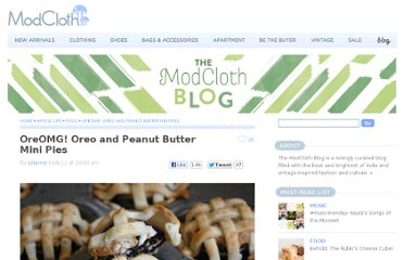 http://blog.modcloth.com/2011/09/06/oreomg-oreo-and-peanut-butter-mini-pies/