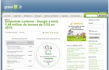 http://www.greenit.fr/article/acteurs/empreinte-carbone-google-a-emis-146-million-de-tonnes-de-co2-en-2010-3949