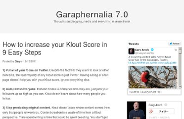 http://gary.arndt.com/wordpress/2011/09/12/how-to-increase-your-klout-score-in-9-easy-steps/