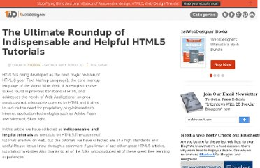 http://www.1stwebdesigner.com/freebies/the-ultimate-roundup-of-indispensable-and-helpful-html5-tutorials/