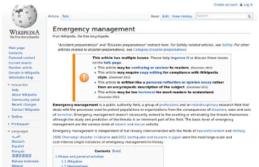 http://en.wikipedia.org/wiki/Emergency_management