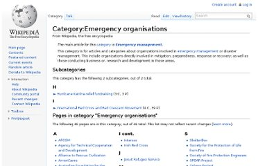 http://en.wikipedia.org/wiki/Category:Emergency_organisations