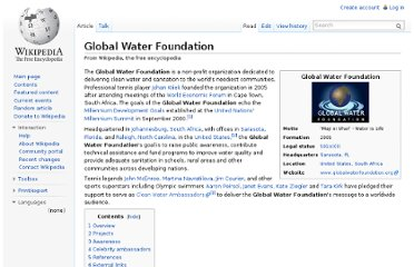 http://en.wikipedia.org/wiki/Global_Water_Foundation