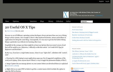 http://www.applematters.com/article/20-useful-os-x-tips/
