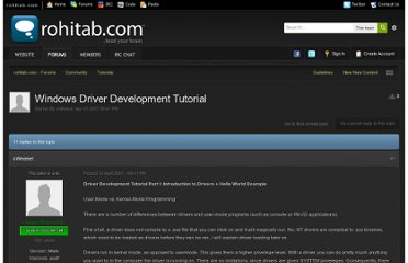 http://www.rohitab.com/discuss/topic/24166-windows-driver-development-tutorial/