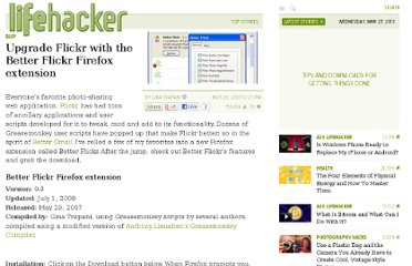 http://lifehacker.com/263985/upgrade-flickr-with-the-better-flickr-firefox-extension