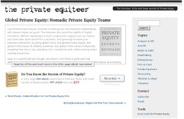 http://www.theprivateequiteer.com/global-private-equity/