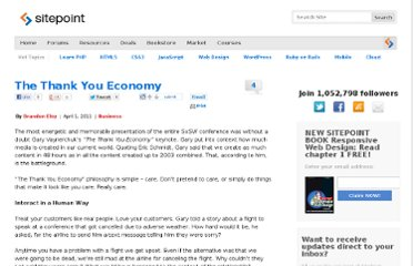 http://www.sitepoint.com/the-thank-you-economy/