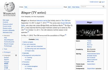 http://en.wikipedia.org/wiki/Ringer_(TV_series)