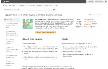 http://office.microsoft.com/en-us/training/create-and-use-your-own-electronic-business-card-RZ010185949.aspx