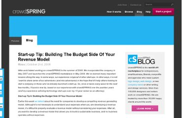 http://blog.crowdspring.com/2008/10/start-up-tip-building-the-budget-side-of-your-revenue-model/