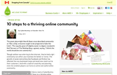 http://uk.moo.com/ideas/10-steps-online-community.html