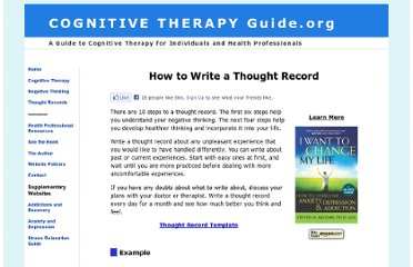 http://www.cognitivetherapyguide.org/thought-records.htm