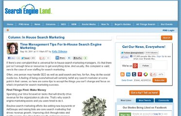 http://searchengineland.com/time-management-tips-for-in-house-search-engine-marketing-91984