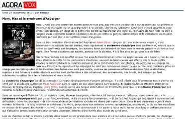 http://mobile.agoravox.fr/actualites/sante/article/mary-max-et-le-syndrome-d-asperger-81848