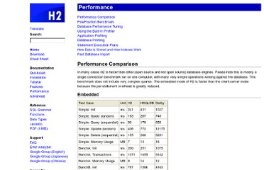 http://www.h2database.com/html/performance.html