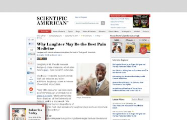 http://www.scientificamerican.com/article.cfm?id=why-laughter-may-be-the-best-pain-medicine
