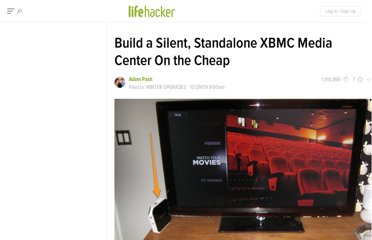 http://lifehacker.com/5391308/build-a-silent-standalone-xbmc-media-center-on-the-cheap