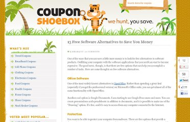 http://couponshoebox.com/tips/13-free-software-alternatives-to-save-you-money/