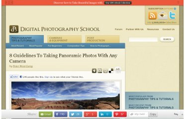 http://digital-photography-school.com/8-guidelines-to-taking-panoramic-photos-with-any-camera