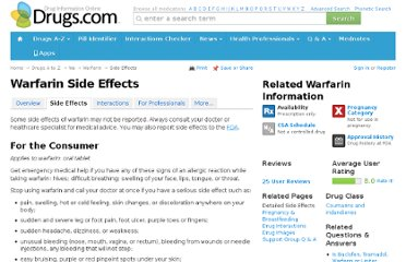 http://www.drugs.com/sfx/warfarin-side-effects.html