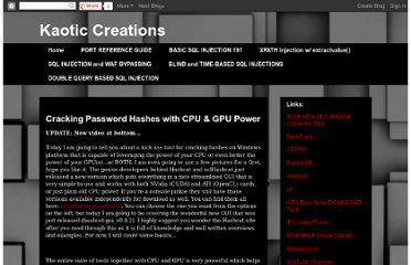 http://kaoticcreations.blogspot.com/2011/06/cracking-password-hashes-with-cpu-gpu.html
