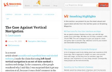 http://www.smashingmagazine.com/2010/01/11/the-case-against-vertical-navigation/