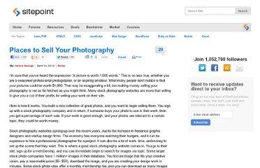 http://www.sitepoint.com/15-places-to-sell-your-photos/