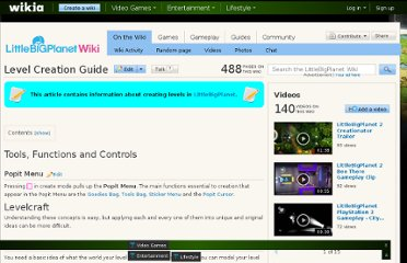 http://littlebigplanet.wikia.com/wiki/Level_Creation_Guide