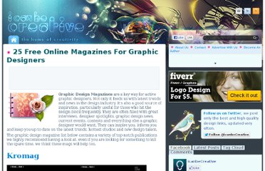 http://www.icanbecreative.com/25-free-online-magazines-for-graphic-designers.html