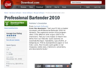 http://download.cnet.com/Professional-Bartender-2010/3000-2126_4-10173550.html