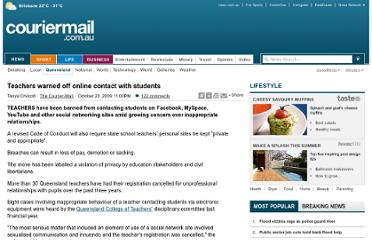 http://www.couriermail.com.au/news/queensland/teachers-warned-off-online-contact-with-students/story-e6freoof-1225790626796