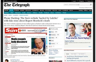 http://www.telegraph.co.uk/news/uknews/phone-hacking/8646558/Phone-Hacking-The-Suns-website-hacked-by-LulzSec-with-fake-story-about-Rupert-Murdochs-death.html