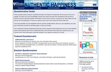 http://www.authentichappiness.sas.upenn.edu/questionnaires.aspx