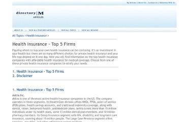 http://articles.directorym.com/Health_Insurance_Top_5_Firms-a800230.html