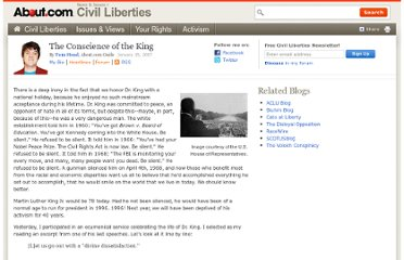 http://civilliberty.about.com/b/2007/01/15/the-conscience-of-the-king.htm