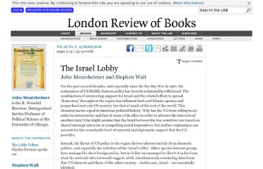 http://www.lrb.co.uk/v28/n06/john-mearsheimer/the-israel-lobby