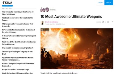 http://io9.com/5778109/10-most-awesome-ultimate-weapons