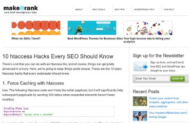 http://makeitrank.com/10-htaccess-hacks-every-seo-should-know