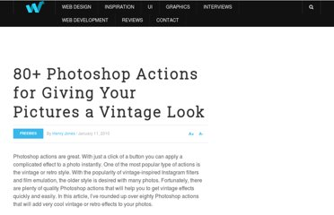 http://webdesignledger.com/freebies/80-photoshop-actions-for-giving-your-pictures-a-vintage-look