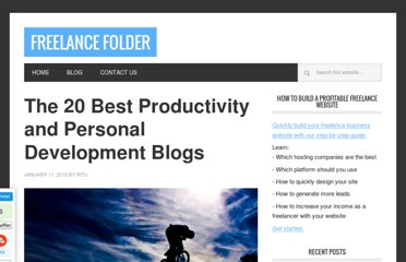 http://freelancefolder.com/the-20-best-productivity-and-personal-development-blogs/