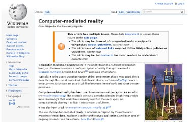 http://en.wikipedia.org/wiki/Computer-mediated_reality