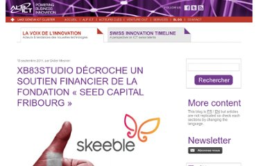 http://blog.alpict.com/2011/09/15/xb83studio-decroche-un-soutien-financier-de-la-fondation-seed-capital-fribourg/