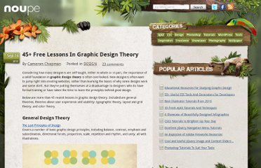 http://www.noupe.com/design/45-free-lessons-in-graphic-design-theory.html