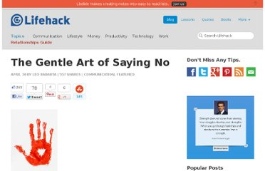 http://www.lifehack.org/articles/communication/the-gentle-art-of-saying-no.html