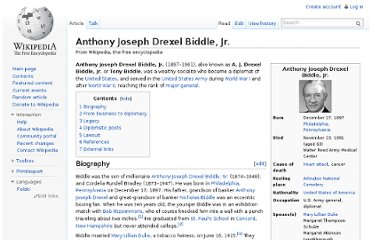 http://en.wikipedia.org/wiki/Anthony_Joseph_Drexel_Biddle,_Jr.