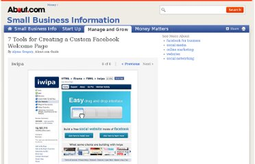 http://sbinformation.about.com/od/ecommerce/ss/how-to-create-custom-facebook-welcome-page_8.htm