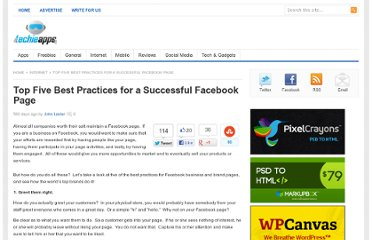 http://www.techieapps.com/top-five-best-practices-for-a-successful-facebook-page/