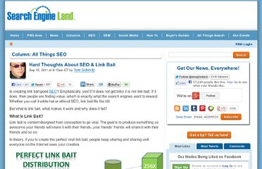 http://searchengineland.com/hard-thoughts-about-seo-link-bait-92570