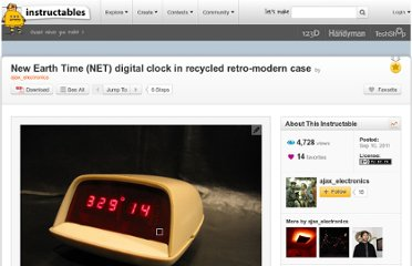 http://www.instructables.com/id/New-Earth-Time-NET-digital-clock-in-recycled-ret/